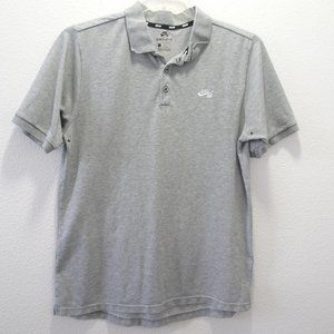 🌵 Nike Skateboarding Polo Shirt Dri-Fit L Gray